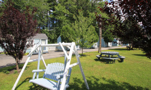 Lawn swings And Picnic Tables On Our Grounds